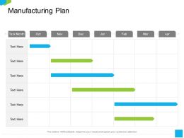 Manufacturing Plan Task Month Ppt Powerpoint Presentation Pictures Graphics Download