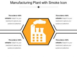 Manufacturing Plant With Smoke Icon
