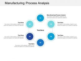 Manufacturing Process Analysis Ppt Powerpoint Presentation Inspiration Show Cpb