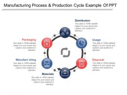 Manufacturing Process And Production Cycle Example Of Ppt
