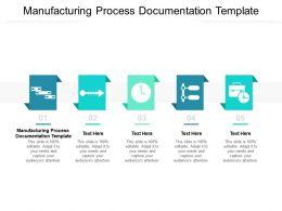 Manufacturing Process Documentation Template Ppt Powerpoint Presentation Slides Slideshow Cpb
