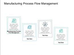 Manufacturing Process Flow Management Ppt Powerpoint Presentation Gallery Slides Cpb