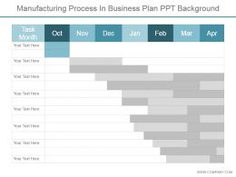 Manufacturing Process In Business Plan Ppt Background