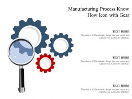 Manufacturing Process Know How Icon With Gear