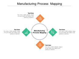 Manufacturing Process Mapping Ppt Powerpoint Presentation Icon Themes Cpb