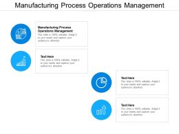 Manufacturing Process Operations Management Ppt Powerpoint Presentation Infographics Format Cpb