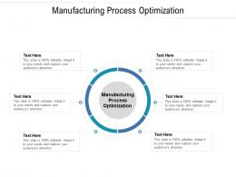 Manufacturing Process Optimization Ppt Powerpoint Presentation Infographics Slides Cpb