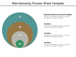Manufacturing Process Sheet Template Ppt Powerpoint Presentation Model Examples Cpb