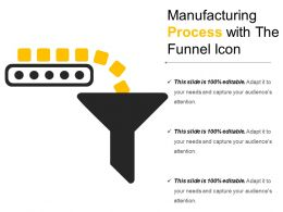 Manufacturing Process With The Funnel Icon