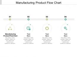 Manufacturing Product Flow Chart Ppt Powerpoint Presentation Ideas Templates Cpb