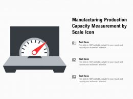 Manufacturing Production Capacity Measurement By Scale Icon