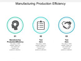 Manufacturing Production Efficiency Ppt Powerpoint Presentation Inspiration Slideshow Cpb