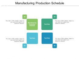 Manufacturing Production Schedule Ppt Powerpoint Presentation Pictures Samples Cpb