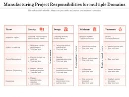 Manufacturing Project Responsibilities For Multiple Domains