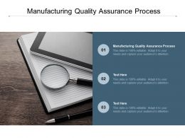 Manufacturing Quality Assurance Process Ppt Powerpoint Presentation Styles Design Templates Cpb