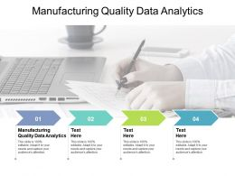 Manufacturing Quality Data Analytics Ppt Powerpoint Presentation Professional Cpb