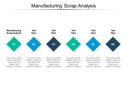 Manufacturing Scrap Analysis Ppt Powerpoint Presentation Gallery Demonstration Cpb
