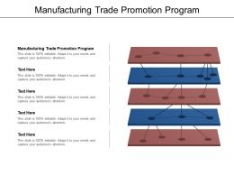Manufacturing Trade Promotion Program Ppt Powerpoint Presentation Infographic Template Demonstration Cpb