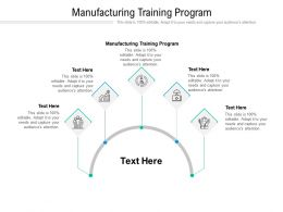 Manufacturing Training Program Ppt Powerpoint Presentation Pictures Deck Cpb