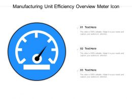 Manufacturing Unit Efficiency Overview Meter Icon