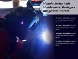 Manufacturing Unit Maintenance Strategies Image With Worker
