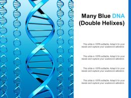 Many Blue DNA Double Helixes