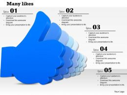 Many Blue Likes Thumb Up Symbols