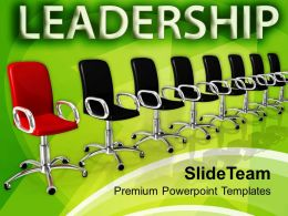 Many Chairs In Row Leadership Concept Powerpoint Templates Ppt Themes And Graphics 0113