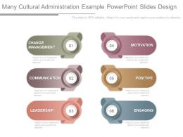 Many Cultural Administration Example Powerpoint Slides Design
