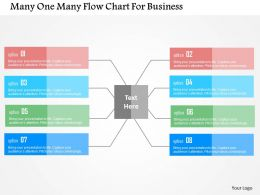 Many One Many Flow Chart For Business Flat Powerpoint Design
