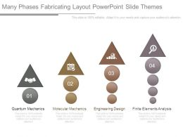 Many Phases Fabricating Layout Powerpoint Slide Themes