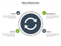 Many Relationship Ppt Powerpoint Presentation Inspiration Graphics Tutorials Cpb