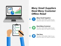 Many Small Suppliers Need Many Customer Offline Retail