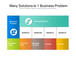 Many Solutions To 1 Business Problem