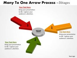 Many To One Arrow Process 3 Stages