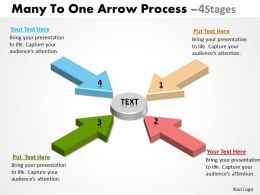 Many To One Arrow Process 4 Stages 3