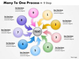 Many To One Process 9 Step 1
