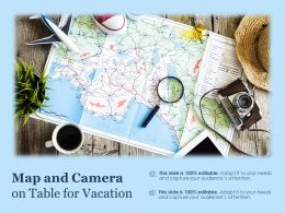 Map And Camera On Table For Vacation