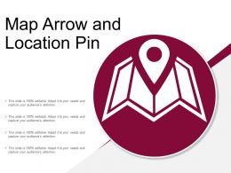 Map Arrow And Location Pin
