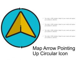 Map Arrow Pointing Up Circular Icon