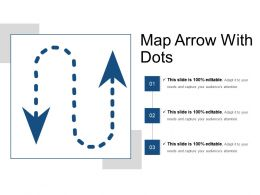 Map Arrow With Dots