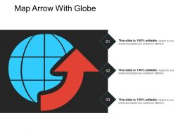 Map Arrow With Globe