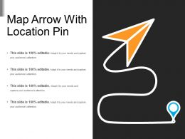 Map Arrow With Location Pin