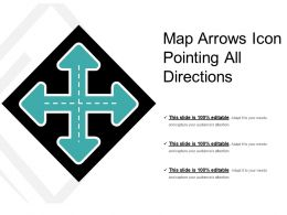Map Arrows Icon Pointing All Directions