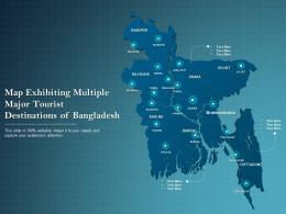 Map Exhibiting Multiple Major Tourist Destinations Of Bangladesh