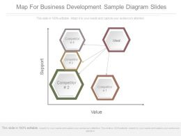 Map For Business Development Sample Diagram Slides