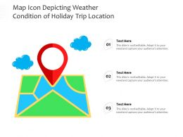 Map Icon Depicting Weather Condition Of Holiday Trip Location
