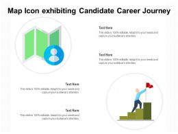 Map Icon Exhibiting Candidate Career Journey