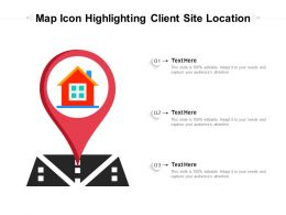 Map Icon Highlighting Client Site Location