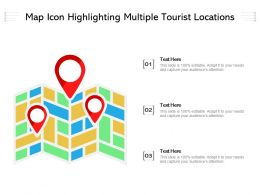 Map Icon Highlighting Multiple Tourist Locations